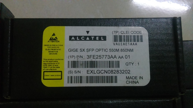ALCATEL-LUCENT 3FE25773AA 550M 850NM