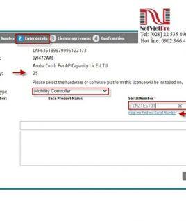 Aruba LIC-AP Controller per AP Capacity License E-LTU (JW472AAE)